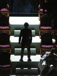 Shadow on stairs ! Ariadne Auf Naxos (8 August 2012) in Salzburger Festspiele. The silhouette is Jonas Kaufmann's one. Staging director was Sven-Eric Bechtolf