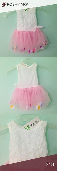 12-18M Flower petal tutu dress 100% new. Soft and breathable Cotton fabric Comfortable to touch and wear 1pcs ONLY, any other accessories NOT included! Flower petals in the hem, adjust them to one location or spread them all around. Super cute.  size: 12-18M Dresses Casual