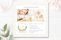 Easter Mini Session Template by By Stephanie Design on @creativemarket