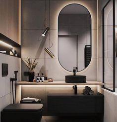 31 Decorating Your Perfect Bathroom Ideas – IdeasDonuts Washroom Design, Bathroom Design Luxury, Modern Bathroom Design, Modern Interior Design, Modern Luxury Bathroom, Small Bathroom Interior, Bathroom With Tv, Modern Bathroom Furniture, Wooden Tile Bathroom