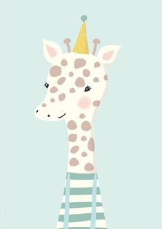 "[orginial_title] – Theresia Michler Art print/poster/picture ""Little Giraffe"" Kunstdruck / Poster / Bild kleine Giraffe Illustration Mignonne, Cute Illustration, Giraffe Illustration, Kids Prints, Art Prints, Image Deco, Art Mignon, Little Giraffe, Giraffe Art"