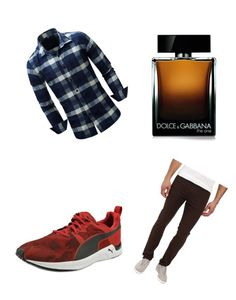 """Guy in the woods"" by thegamingcookie on Polyvore featuring Puma, Dolce&Gabbana, men's fashion and menswear"