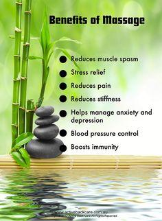 Benefits of Massage #wellness #health