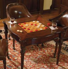 With our Freeman Game Room Furniture, you can challenge family and friends to your favorite chess, checkers or card games.
