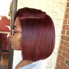 Most up-to-date Pictures African American black to red bob – Bob Hairstyles medium Natural Hair Styles For Black Women, Hair Color For Women, Hair Color For Black Hair, Cool Hair Color, Black Girl Red Hair, Short Bob Hairstyles, African Hairstyles, Black Hairstyles, Guy Hairstyles