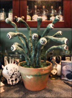 Halloween Forum member Hilda's Eyeball plant!