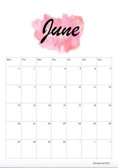 june 2017 calendar clipart