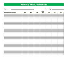 Blank Time Sheets for Employees | Printable blank PDF weekly schedules are extremely easy and helpful to ...