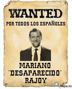 Mariano 'desaparecido' Rajoy