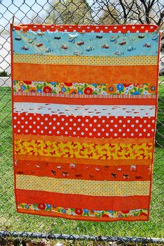 Strip Quilt - CUTE