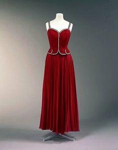 Machine-sewn silk grosgrain and silk chiffon, 1938 | Flickr - Photo Sharing!