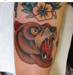 Bear tattoo Samuele Briganti