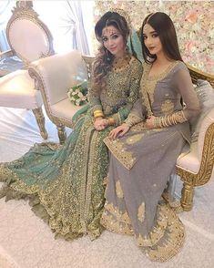 Image may contain: 2 people, people sitting Indian Bridal Lehenga, Pakistani Wedding Dresses, Nikkah Dress, Indian Dresses, Indian Outfits, Eid Dresses, Pakistani Wedding Outfits, Bridal Outfits, Eid Outfits