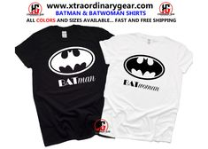 (Batman & Batwoman) Couple Shirts, Anniversary Shirts, Couple Shirts, Anniversary Hubby and wife, Matching Couple, Gift for her, Gift for him (FREE SHIPPING) Matching Couple Gifts, Matching Couples, Matching Shirts, Mothers Day Shirts, Valentines Day Shirts, 1st Anniversary Gifts For Him, Best Custom T Shirts, Personalised Gifts For Him, Graduation Shirts