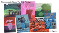 Art Room 104: Finished Monochromatic VanGogh: Class A