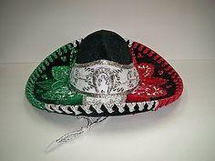 Authentic Elegant Mexican Mariachi-Sombrero Charro Hat Child Tri Color 0db86eb8e40