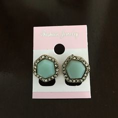 NWOT Teal Fashion Studs Teal colored studs! Cute addition to any outfit! Never worn Jewelry Earrings