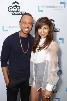 Naya Rivera and Terrence J at Alliance Collins High School (May - UHQ Terrence J, Naya Rivera, Glee, High School, Singer, Actresses, Clothing, Wedding Ring, Female Actresses