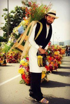 Silletero en Feria de las flores en Medellín
