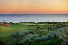Abendstimmung auf dem Golfplatz Dunes Course auf dem Peloponnes http://reisegezwitscher.de/reisetipps-footer/2148-attika