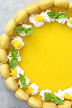 The best No Bake Mango Charlotte Cake - the perfect dessert for summer, so deliciously creamy and easy to make!