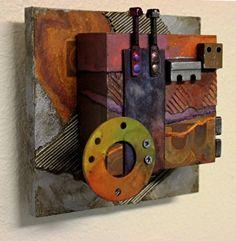 C7 by Carol Nelson mixed media ~ 6 x 6