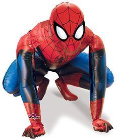 Amscan Spider Man Gliding Balloon, Mu…