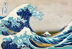 Canvas Gallery Wrap Giclee Painting Great Wave by ColorWheelPrints