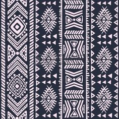 Abstract tribal pattern Stock Vector