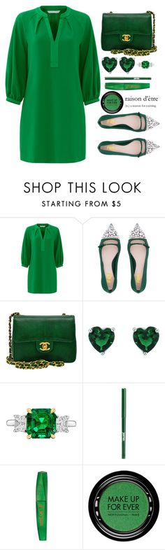 """Fsjshoes"" by simona-altobelli ❤ liked on Polyvore featuring Trina Turk, Chanel, Betteridge, jane, Rimmel, MAKE UP FOR EVER and fsjshoes"