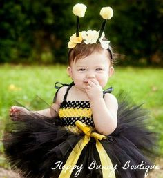 Bumble Bee Tutu Dress Set: Birthday photo by FloppyBunnyBoutique
