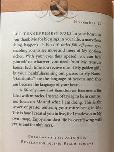 "Good Morning  Love this ~ ""A life of Praise and Thankfulness becomes a life of Miracles"" ~ God Bless"