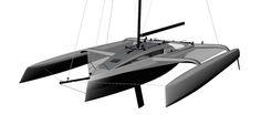 TR54 offshore trimaran forward perspective
