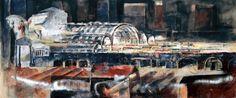 Francesco Santosuosso  stazione centrale. Dipinto di Francesco Santosuosso