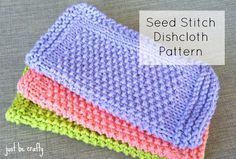 FREE Pattern - the Seed Stitch Dishcloth by Just Be Crafty. Brighten up your kitchen with these adorable dishcloths! This pattern is perfect for beginners!