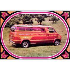 Truckin' Trading Card - number 19 - 1975 Dodge Van by Frank Roberts of Las Vegas, Nevada