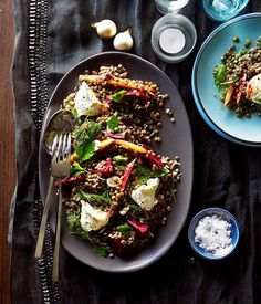 Pickled beetroot and heirloom carrot salad - Australian Gourmet Traveller recipe for pickled beetroot and heirloom carrot salad. Beetroot Recipes, Healthy Salad Recipes, Vegetarian Recipes, Vegetarian Lunch, Tofu, Cooked Carrots, Carrot Salad, Side Recipes, Fruit Recipes