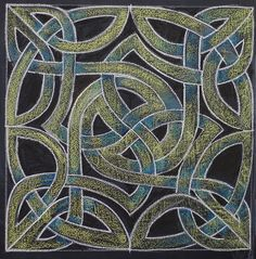 "Check out my set ""Most Interesting here! Visit my Waldorfschool/Steinerschool related pinboards here! Chalkboard Drawings, Chalk Drawings, Celtic Patterns, Celtic Designs, Celtic Dragon, Celtic Art, Form Drawing, Islamic Art Calligraphy, Calligraphy Alphabet"