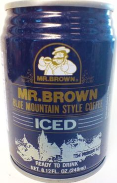 Mr. Brown Iced Coffee, Blue Mountain Style, 8.12-Ounce (Pack of 24) by Mr. Brown -- Awesome products selected by Anna Churchill