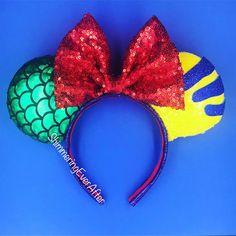 Items similar to Under The Sea Inspired Mouse Ears/Mickey Ears Headband/Minnie Ears/Disney World/Disneyland/Disney Cruise on Etsy Little Mermaid Minnie Ears, The Little Mermaid, Diy Disney Ears, Disney Diy, Disney Headbands, Ear Headbands, Disney Land, Disney Cruise, Mickey Ears
