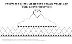 Free Printable Queen of Hearts Crown Template - Party Art Activity
