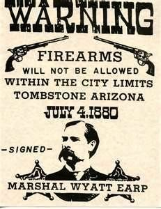 Wyatt Earp ( This was the law in most western towns, you would give the bartender your firearm and pick it up when you left town) Old West Photos, Tombstone Arizona, Wyatt Earp, West Town, The Lone Ranger, Cowboys And Indians, American Frontier, Le Far West, Mountain Man