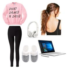 """""""Untitled #14"""" by kat204 ❤ liked on Polyvore featuring Miss Selfridge, Victoria's Secret, Microsoft, Beats by Dr. Dre and Boohoo"""