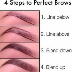 25 Step-by-Step Eyebrows Tutorials to Perfect Your Look Natural Makeup Tutorial . - 25 Step-by-Step Eyebrows Tutorials to Perfect Your Look Natural Makeup Tutorial Eyebrows Perfect StepbyStep Tutorials Beauty Make-up, Beauty Makeup Tips, Beauty Hacks, Beauty Care, Face Beauty, Perfect Brows, Perfect Makeup, Perfect Eyebrows Tutorial, Tutorial Make Up Natural