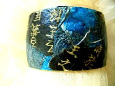 Collaged Cuff from Japanese Papers by Kjoia