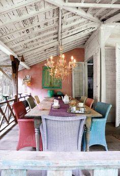 pretty porch for a small reception