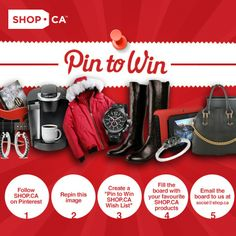 Hey Canada! Winning has never been easier! Follow the instructions above for chance to win a $50 SHOP.CA eGift card! Visit SHOP.CA and Pin away!: http://go.shop.ca/1cRCs4s For full contest rules please visit: http://go.shop.ca/1ixJMtS