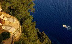Sacada do hotel Caesar Augustus, na Ilha de Capri, uma das hospedagens de luxo do roteiro   divulgação