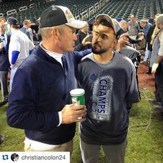 #Repost @christiancolon24 ・・・ When George Brett talks with you about an AB, you listen... | royals.com