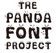 Animal Awareness Typefaces - The Panda Font Project Brings Awareness Through an Adorable Font (GALLERY)
